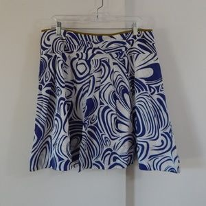 blue CABI STYLE 470 skirt circle knee length 12